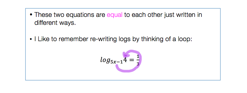 Solving Log Equations