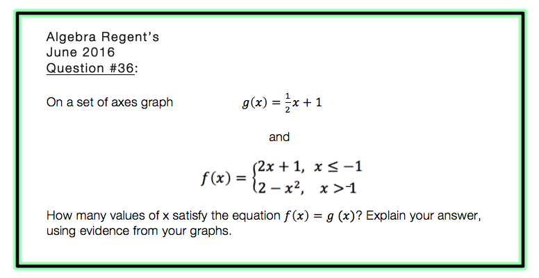piecewise function NYS regents