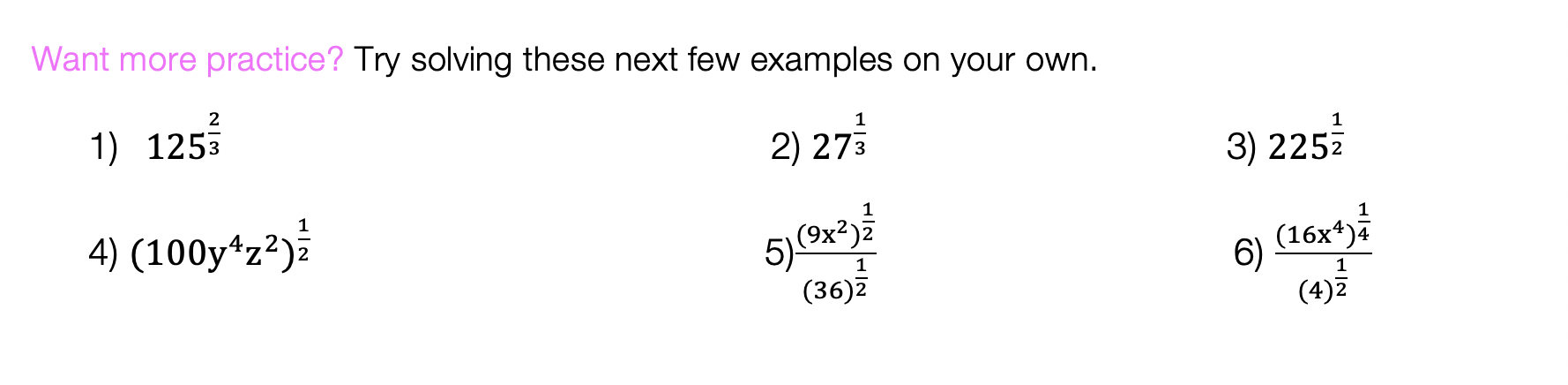 Rational Exponents: