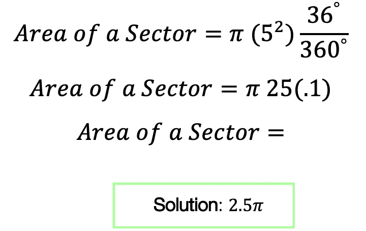 area of a sector
