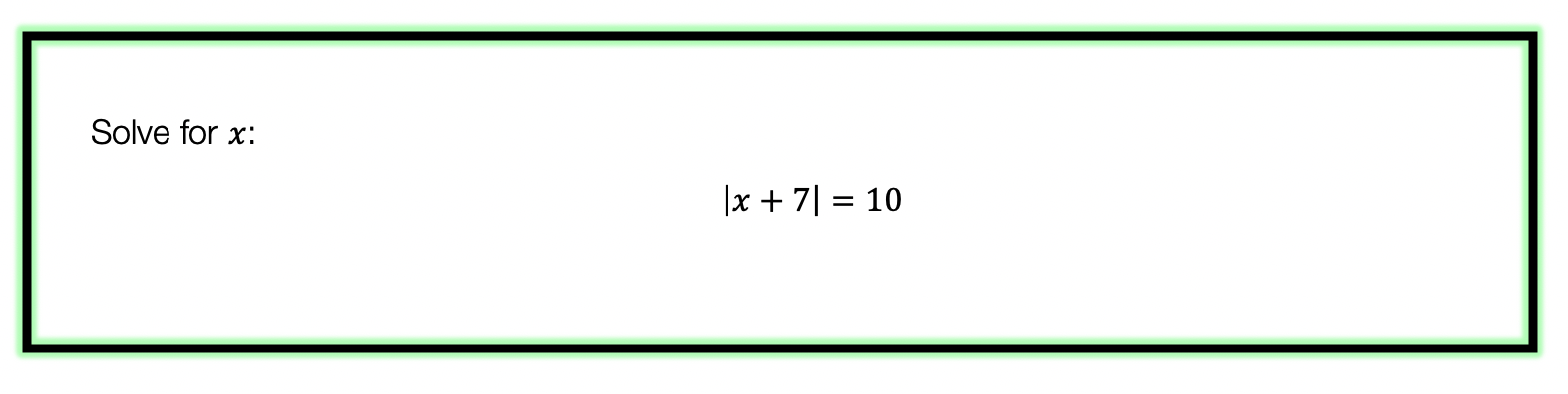 Absolute Value Equations example