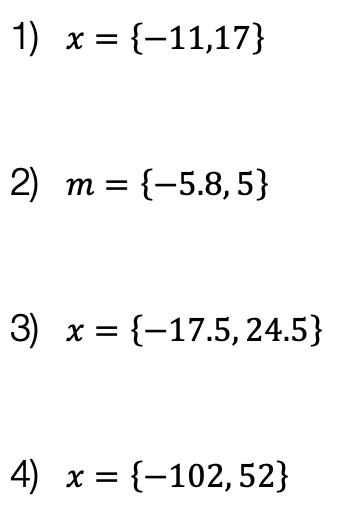 Absolute Value Equations solutions