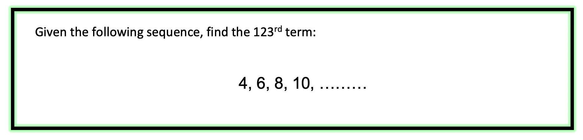 arithmetic sequence examples