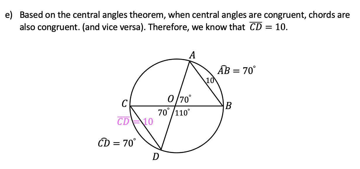 central angles theorems