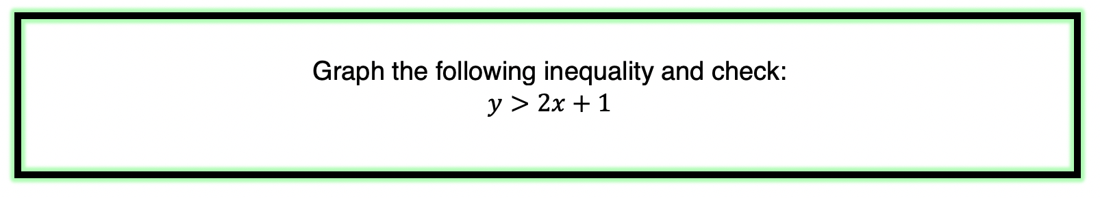 graphing inequality example