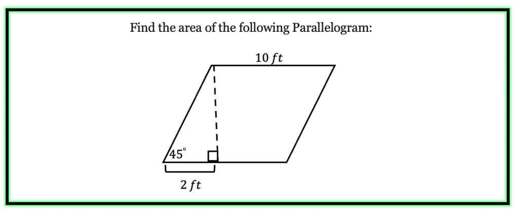 How to find the Area of a Parallelogram